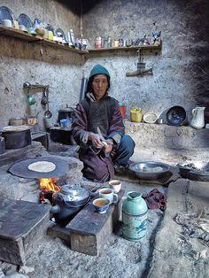 Preparing Breakfast . Kanji, Jammu and Kashmir