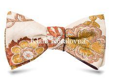 Купить галстук-бабочку - мужская бабочка на шею из шерсти и хлопка - дизайнерская бабочка