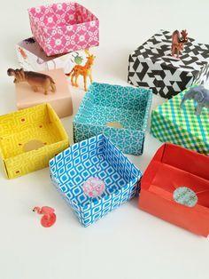 DIY origami boxes - www.wimketolsma.nl