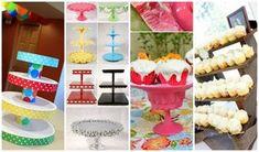 Bases o exhibidores para cupcakes hechos en casa