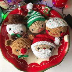 amigurumi # 86012 shared by Clay at Sun, 09 Feb 2020 GMT - Amigurumi Crochet Christmas Decorations, Crochet Decoration, Crochet Ornaments, Christmas Crochet Patterns, Holiday Crochet, Christmas Knitting, Crochet Patterns Amigurumi, Crochet Crafts, Crochet Dolls
