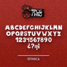 Tipografia Rítmica, basada en la revista Ritmo de la decada de los 70.