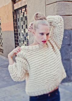 Strickset Schafwolle Pullover Nolita Sweater