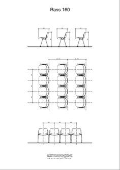 Medidas y forma de instalación recomendada silla para auditorios, cines, teatros y salones modelo Rass160 de la empresa Rassegna®. Para más información ingresar aquí: http://www.rassegna.com.ar/productos/rass160_42