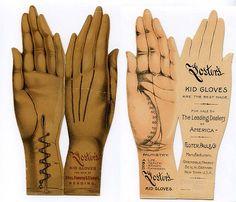 Salesmans advertising glove cards - vintage ephemera - kid gloves by vvitch. Vintage Labels, Vintage Ephemera, Vintage Ads, Vintage Images, Vintage Prints, Vintage Posters, Vintage Paper, Body Painting, Show Of Hands