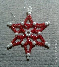 Snowflake made of beads Photo 12