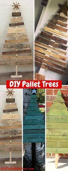 10 DIY Pallet Trees - 100% Reclaimed #Pallets