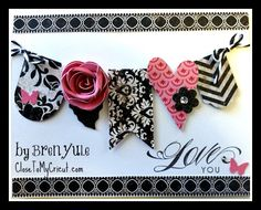 Happy Valentines Day! Close To My Heart Cricut Card by Bren Yule - use SU Hearts A Flutter Bundle