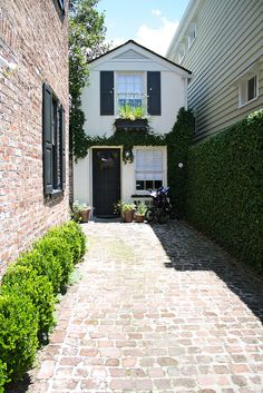 Charming house with brick path
