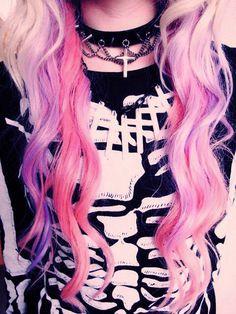 • Pastel goth hair