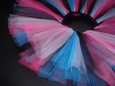 Bright blue, black, white & Hot pink- infant: newborn tutu, tulle tutu, infant tutu, child tutu, baby girl tutu, girl tutu, ballerina. $13.00, via Etsy.
