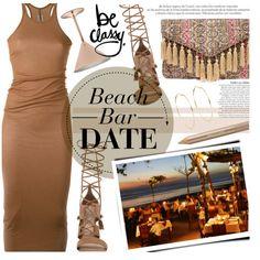 Beach Bar Date by noviii on Polyvore featuring polyvore, fashion, style, Rick Owens, ALDO, LULUS, River Island, Estée Lauder, Towle and Bali