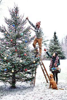 Christmas tree outside ❤️