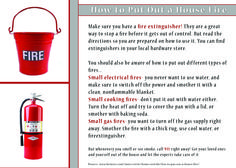 Make sure you always call 911 right away if you smell or see smoke, but just in case, here is some information on how to put out a small house fire if it were to happen! #corwinrey