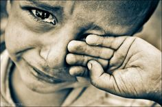 Why do theses sad eyes cry? Because of Hunger? Because of War? Because no one Loves him? Because he is abused?