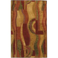 Kess InHouse Kess Original Sunset Orange Bokeh Decorative Door 2 x 3 Floor Mat