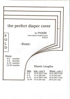 Pattern for diaper cover Baby Sewing Projects, Sewing For Kids, Sewing Hacks, Sewing Clothes, Diy Clothes, Couture Bb, Baby Born Clothes, Diy Diapers, Cloth Diapers