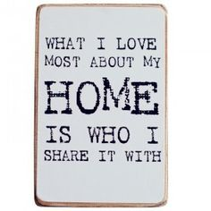 "Puurrr Tekstblok ""What I love most about my home..."