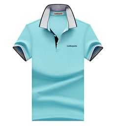 Mens Short Sleeve Polo Shirts in Jersey Fabric, 3 buttons on placket, with flat knitted collar and cuffs, logos, colors and sizes can be customized here. Casual T Shirts, Casual Outfits, Men Casual, Pique Polo Shirt, Polo T Shirts, Golf Wear, Camisa Polo, Fashion Catalogue, Mens Clothing Styles
