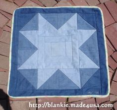 Here's the entire tutorial for a quick baby quilt. She uses fleece for the backing, and no batting. Cute, quick, recycled.
