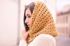 Knitwear and wool at DaWanda Crocheted Scarves – READY TO SHIP! Crochet infinity scarf snood wool – a unique product by WarmStories on DaWanda