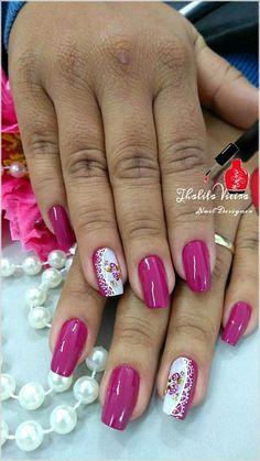 Elegant Nails, Stylish Nails, Trendy Nails, Pink Nail Art, Pink Nails, Pretty Nail Art, Flower Nails, Creative Nails, Bridal Nail Art