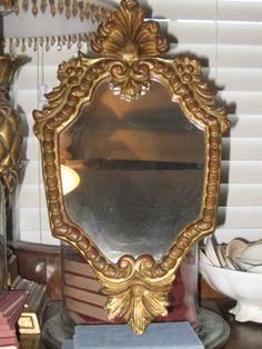 Vintage Florentine Wood Mirror Gilded Vintage by OkieGirlStuff, $65.00