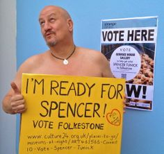 Discover Folkestone is 'Ready for Spencer'  #votefolkestone  http://www.culture24.org.uk//places-to-go/museums-at-night/ART461565-Connect10-Vote-Spencer-Tunick