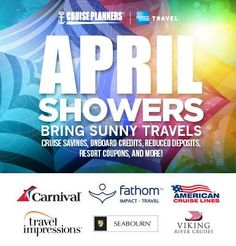 April showers bring in sunny travels for your next journey! Call me to explore a rainbow of travel choices tailored to your vacation needs. - http://ift.tt/1HQJd81