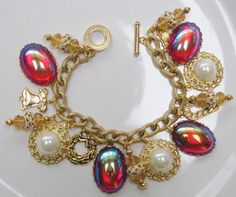 My Handcrafted Christmas Holiday Charm Bracelet