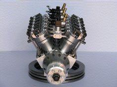 RC V engine