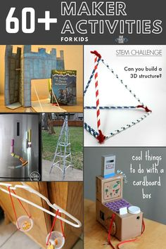 You and your kids are going to love these maker activities! Find design builds, tinker trays, invitations to play, and more to make today! #makeractivities #STEMeducation #tinker #preschoolSTEM #makerprojects Activities For Kids, Crafts For Kids, Stem Challenges, Summer Kids, Coding, Kids Arts And Crafts, Kid Activities, Petite Section, Kid Crafts