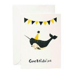 Who's Got My Tail - Kid's Congratulation Card - Whale at willobaby.com