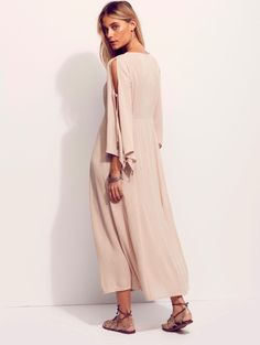 ca2c63d9892d  128 FREE PEOPLE PRETTIEST THING BOHO MAXI DRESS IN NUDE NEUTRAL SIZE SMALL  NEW  FreePeople  versatile
