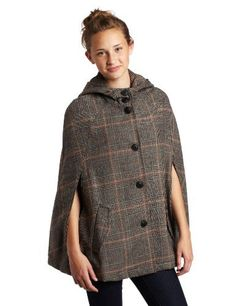 BB Dakota Juniors Calhoun Coat BB Dakota. $70.36. 50% polyester/27% wool/20% acry/2% nylon/1% vscose. This cape has a hood, and buttons up the middle of the front. Hand wash. This cape has two front arm holes