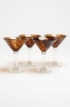Tortoiseshell Martini Glasses