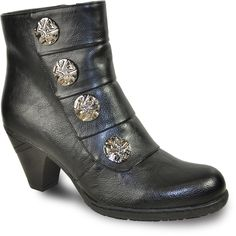 Search for Black, Ladies, Unlined Boots - Quarks Shoes Dress With Boots, Metal Buttons, Black Boots, Heeled Boots, Footwear, Booty, Luxury, Lady, Heels