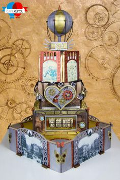 Steampunk Wedding Cake was made by Sebastien Laroche and Jonathan Ventura of Cake Revol located in Nantes, France Burlesque Cake, Steampunk Wedding Cake, Steamed Cake, Pig Roast, Pig Birthday, Cute Pigs, Diy Cake, Cake Tutorial, Cute Cakes