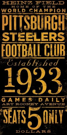 Pittsburgh Steelers Football club typography