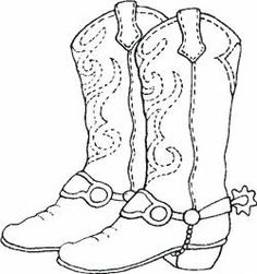 Template For Cowboy Boot Photo: This Photo was uploaded by
