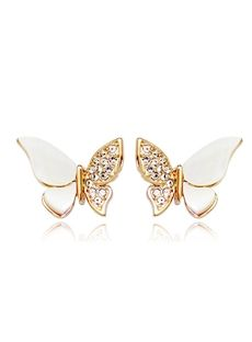 New Distinctive Butterfly Shaped Pure Color Shell Wing Lovely Ear Studs Funky Earrings, Jewelry Design Earrings, Cheap Earrings, Bling Jewelry, Body Jewelry, Women's Earrings, Wedding Jewelry, Jewellery, Delicate Jewelry