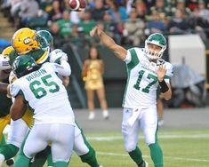 Images from Week 8 action between the Edmonton Eskimos and Saskatchewan Roughriders. Saskatchewan Roughriders, Canadian Football League, Rough Riders, Football Helmets