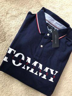 tommy hilfiger polo men's polo shirt xl on Mercari Polo Shirt Outfits, Mens Polo T Shirts, Boys T Shirts, Collar Designs, Camisa Polo, Tommy Hilfiger Shirts, Stylish Men, Alter, Men's Polo