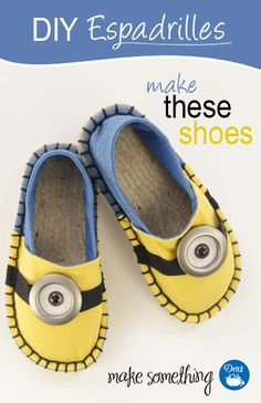 Make a pair of DIY character espadrilles for Halloween or fun using Dritz Espadrilles products; easy sewing project.
