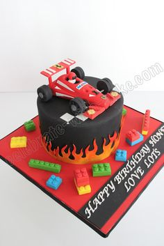 Race Car Birthday Cake Cakes I Want To Makes Pinterest