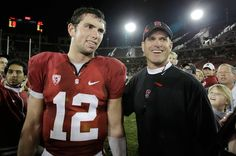 """""""Andrew Luck pointed Colin Kaepernick in Jim Harbaugh's direction"""" Yahoo! Sports (January 28, 2013)"""