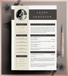 Creative Resume Template CV Template Instant by CvDesignCo on Etsy Cv Design, Resume Design, Layout Design, Graphic Design, Layout Cv, Free Resume Examples, Creative Resume Templates, Portfolio Layout, Portfolio Design