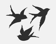 birds flying stencil ile ilgili görsel sonucu
