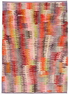 Loom 'old yarn' rug, woven from unravelled vintage rug wool and reworked into one contemporary pieces.