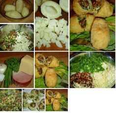 Potatoes with stuffing.